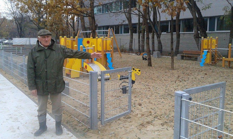 pierwszy publiczny plac zabaw i siłownia zewnętrzna na Zielonym Ursynowie