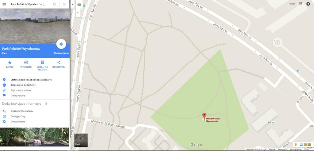 park_polskich_wynalazcow_google_maps