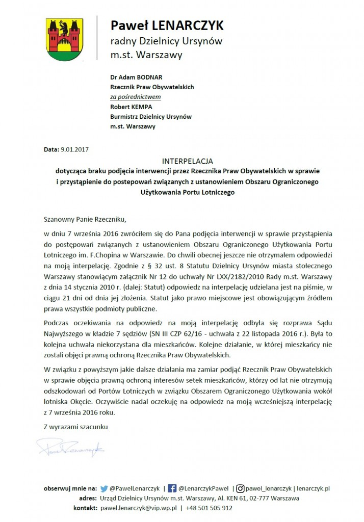 interpelacja_rzecznik_praw_obywatelskich_obszar_ograniczonego_uzytkowania_styczen_2017_przypomnienie