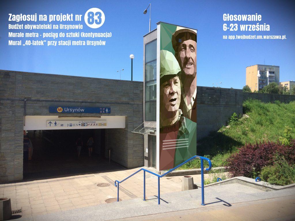 Murale metra - pociąg do sztuki (kontynuacja) - Karwowski i Maliniak